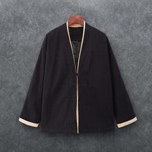 中国风汉服上衣男士 复古外套唐装 民族服装 秋季居士服男装 改良衣服