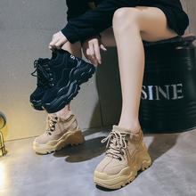 内增高女鞋2019春季新款运动鞋韩版厚底松糕鞋百搭学生单鞋休闲鞋