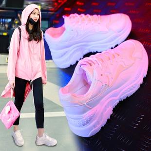 加绒运动鞋女韩版原宿ulzzang冬季2018新款鞋子网红百搭老爹女鞋