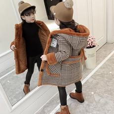 女童外套秋冬2017新款韩版童装冬装儿童大童洋气公主毛呢大衣女孩