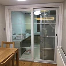 定制推拉门室内门客厅阳台厨房隔断钛镁合金移门中空双层钢化玻璃