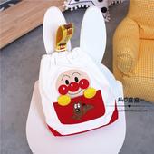 面包超人婴幼儿奶瓶袋宝宝零食收纳袋尿片袋帆布束口婴儿车挂袋