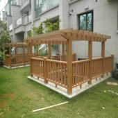 150mm葡萄架塑木立柱阳台木塑护栏基础建材院子围栏防腐防水木方