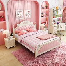 儿童床女孩 公主床青少年床1.2/1.5米床儿童房家具组合套装8301床