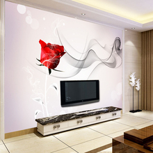 卧室客厅壁纸现代简约时尚 8d电视背景墙壁画整张立体欧式家装 墙纸
