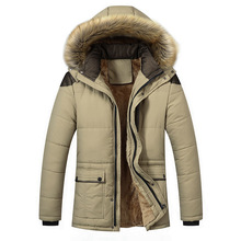 Mens down jacket winter warm coat casual parkas cotton jacket men's fashion