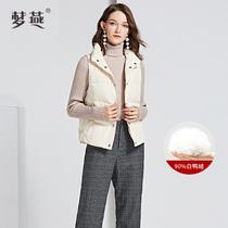 羽绒马夹气质休闲大码 女装 妈妈装 梦燕冬季新品 时尚 CY10A8002
