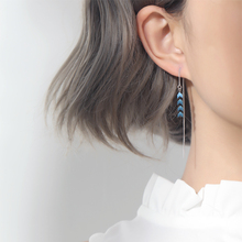 Enlightenment of Silver Ornament Small Block Earline Female Temperament Pure Silver Earrings Female Earrings Female Ear Nails Female Earrings Female Earrings Female Delicate Super Fairy Earrings