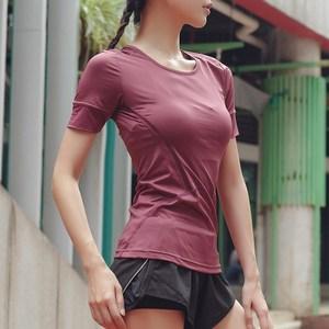 美女照我去运动速干运动短袖健身上衣训练瑜伽服跑步高弹显瘦恤