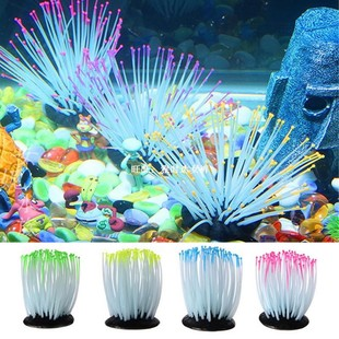 Artificial Corals Aquarium Fish Tank Luminous Sea Anemone Ar