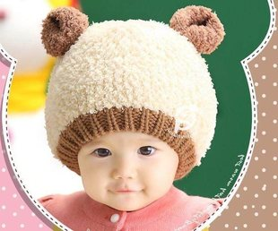 Little girl 6-7-9-11 months baby 1-2 years old winter cap ba
