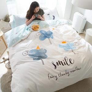 天天特价 简约北欧韩版全棉四件套纯棉被套床单1.8春夏床品卡通风四件套