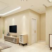 迈科无纺布壁纸素色简约现代墙纸书房客厅卧室家装 电视背景墙强纸