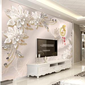 class=h>旗航 /span>3d电视墙壁纸简约无纺布墙纸奢华欧式卧室背景墙