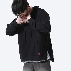 二十八间春装国潮纯色宽松情侣卫衣青年学生韩版潮流休闲男士外套男士卫衣