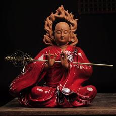 地藏王菩萨佛像坐像摆件 德化陶瓷镇宅佛菩萨像 客厅家居供奉摆件