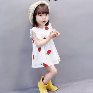 小孩子0到1周至2岁女孩的纯棉公主连衣裙子3女宝宝洋气衣服夏天一
