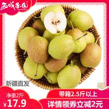 新疆直发库尔勒小香梨青皮脆梨子2斤当季新鲜水果整箱批发 包邮