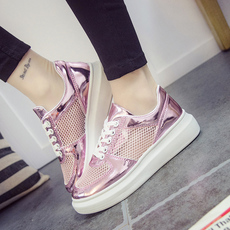 2016新款女鞋子低帮运动鞋春季韩版厚底休闲鞋平底跑步学生板鞋潮