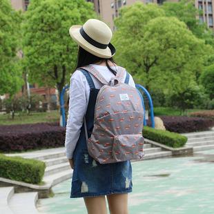 卡通动物防水收纳包 多功能可折叠防水可爱双肩包 书包加厚旅行包