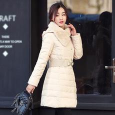 鸭鸭官方旗舰店冬装羽绒服女士中长款断码处理修身衣韩国女装外套