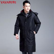 鸭鸭中老年男羽绒服冬装加厚长款爸爸装活里活面男士大码休闲外套