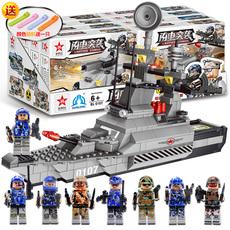 启蒙兼容乐高积木航海战舰军事模型益智拼装儿童玩具男孩礼物6-14