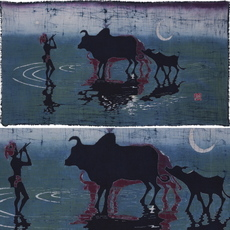 苗族蜡染2014壁挂民族风纯手工湘西艺术美术作品海外热销贵州染料