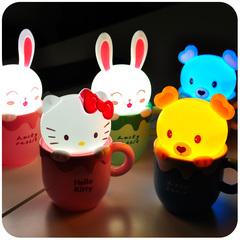 默默爱♥可爱卡通动物 kitty小夜灯 节能创意led小夜灯 USB充电