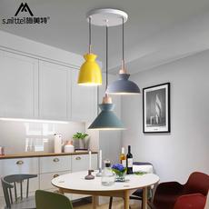 北欧灯具现代三头餐厅吊灯简约个性创意吧台吊灯咖啡厅马卡龙吊灯