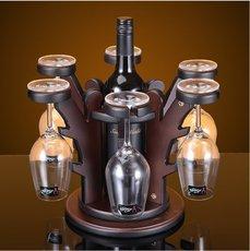 欧式创意摆件木质红酒架红酒杯架酒瓶架红酒酒架高脚杯葡萄酒杯架