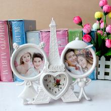 正品 新款 包邮 儿童相框摆台儿童钟表宝宝相框创意像框相架家居饰品