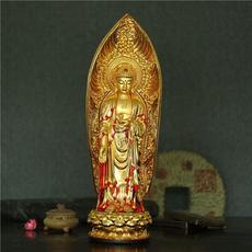 6寸到38寸大日如来佛祖摆件 树脂镀金彩绘佛像站姿阿弥陀佛接引像