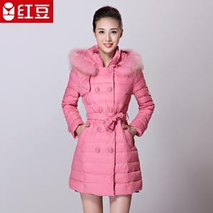 红豆羽绒新品羽绒服女中长款修身冬季羽绒服收腰羽绒服外套R117