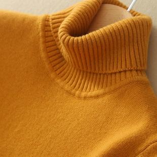 冬季新款高领加厚纯羊绒衫女中长款山羊绒毛衣修身套头大码打底衫