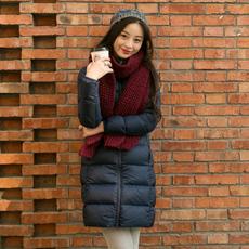 羽绒服女中长款2017新款韩版潮羽绒服女修身显瘦收腰外套反季清仓