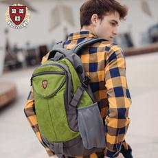哈佛大容量户外春旅行背包男撞色双肩包女韩版旅游双肩电脑背包女