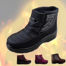 回力雪地靴短靴女棉鞋加绒老人保暖鞋棉靴男士中老年靴子冬季防滑