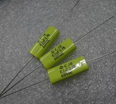 CJE 轴向穿心 卧式铜脚 薄膜电容 0.1uf 100nf 104 630V 5%