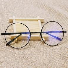 防辐射眼镜男平面平光镜女圆脸可爱抗蓝光电脑镜韩版无度数平镜潮