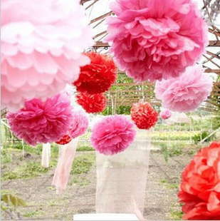 30cm 纸花球 Party Deco Paper Flower For Wedding Decoration