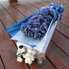 蓝色妖姬南京苏州鲜花速递上海合肥玫瑰花礼盒杭州青岛生日无锡