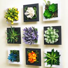 创意田园墙面装饰品立体仿真植物墙上装饰品挂件客厅墙面壁挂壁饰