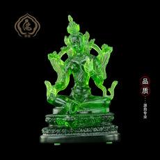 古法琉璃佛像 寺庙供佛 佛教用品个人供奉密宗绿度母 分体绿度母