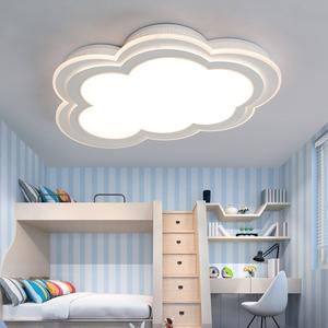 儿童吸顶灯 云朵简约现代创意男女孩led卧室温馨卡通公主房间灯具中式灯