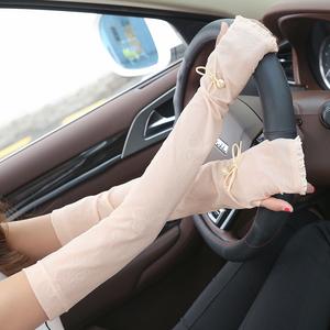 夏季薄款户外护胳膊防晒手套女冰凉袖套袖子手臂套袖长款开车学车