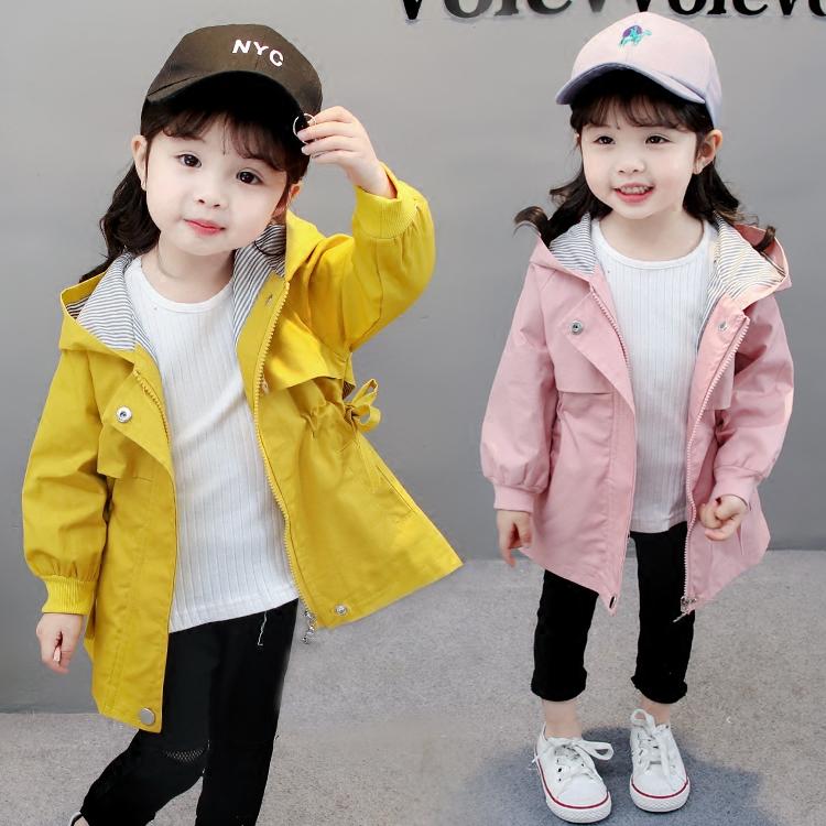 2018新款女童外套风衣春季韩版童装女宝宝长袖上衣春秋装1-3一4岁童装