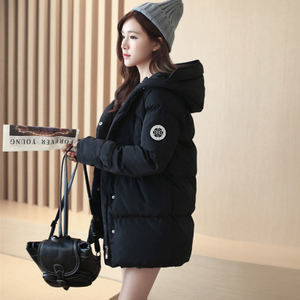 韩版修身棉服面包服女宽松冬季外套棉衣女中长款韩国大码学生棉袄女士棉衣