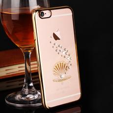 金缔斯 苹果6s手机壳六奢华水钻iPhone6保护壳4.7透明薄闪潮女新