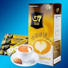越南进口中原G7 卡布奇诺榛子榛果味速溶咖啡粉 216克 12小包